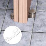 Fermaporta Girevole Lux – Cromo satinato – Fermaporta girevole in acciaio – Blister da 1 pz