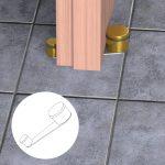 Fermaporta Girevole Lux – Dorato – Fermaporta girevole in acciaio – Blister da 1 pz