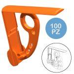 Fermatovaglia -Fermatovaglia in abs lucido – Colore arancione- /C100