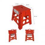 Sgabello – Rosso – Sgabello chiudibile in resina antiurto – Confezione da 1 pz