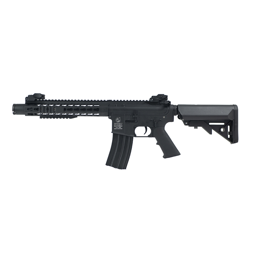 Colt M4 Keymod silencer Black full metal 0.9 J