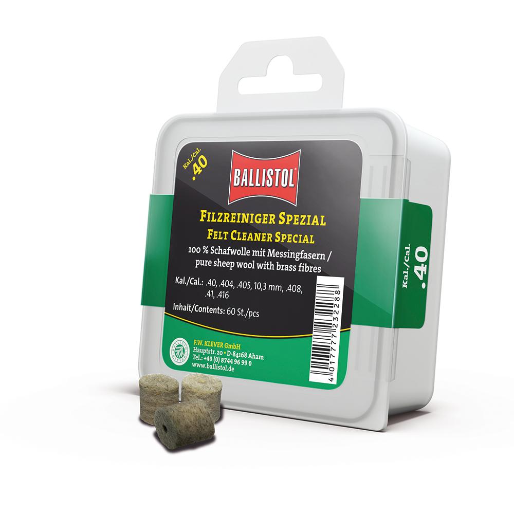 BALLISTOL Feltrini speciali cal.40 – confezione da 60 pz.