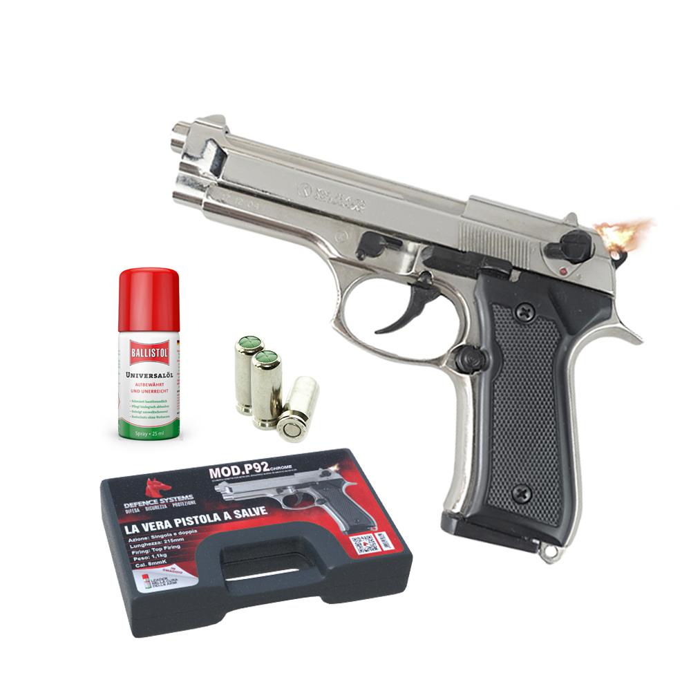 430.001 -Pistola a salve P92 – Chrome