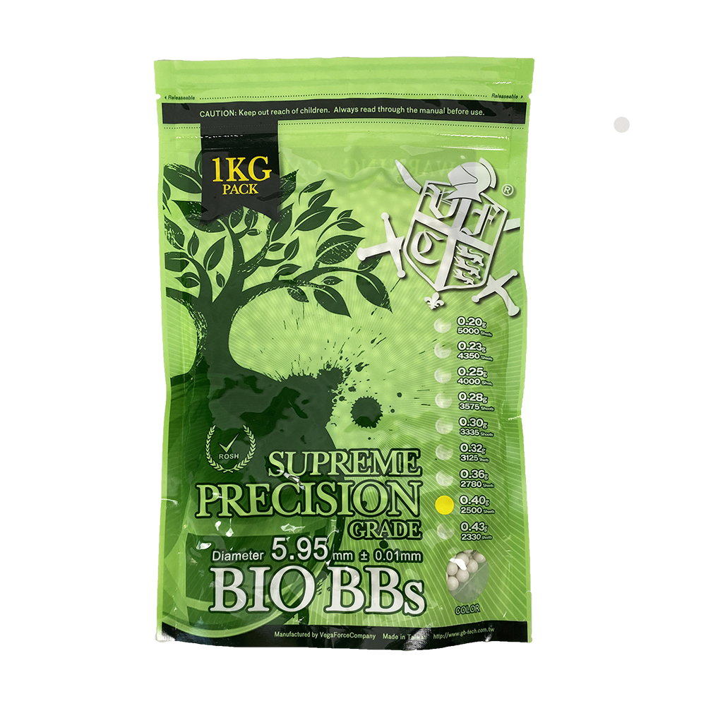 0.40g Bio BB White(1kg Stand Up Pouch) 2500R (1 bag)